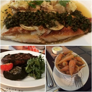 Lemon sole and sirloin steak - Galvin