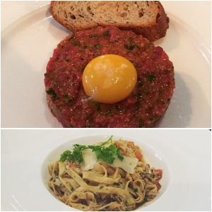 Steak tartare and crab tagliatelle - Galvin