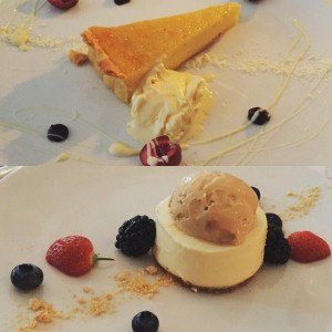 White chocolate tart, elderflower cheesecake - Anfora