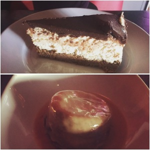 Nutella cheesecake and sticky toffee pudding - Badabing