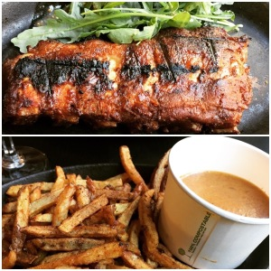 Half baby back ribs and fries - OX184