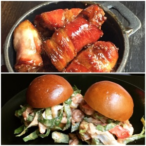 Jalapeno smoking piglets and shrimp and lobster sliders - OX184