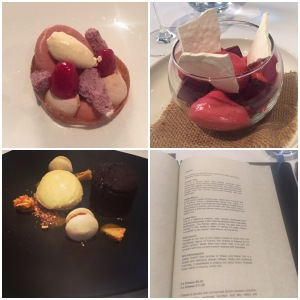 Roks and Moss, Raspberry fishbowl, Chocolate fondant, cheese menu - Mark Greenaway