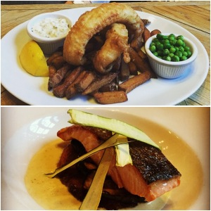 Fish and chips and salmon - Mother's