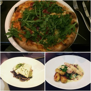 Pizza, halibut and chicken - Amarone