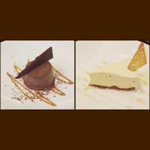 Semi freddo and cheesecake - Amarone
