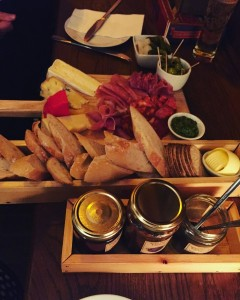 Meat and cheese platter - Pickles