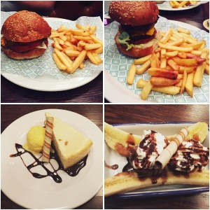 Burgers and desserts - Whistle Stop Barber Shop