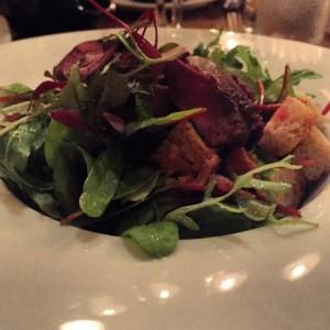 Warm pigeon salad - Howies
