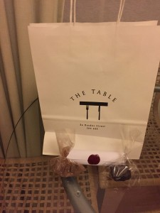 Goodie bag - The Table