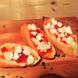 Chilli Jam and Goats Cheese Bruschetta - Tutto Matto