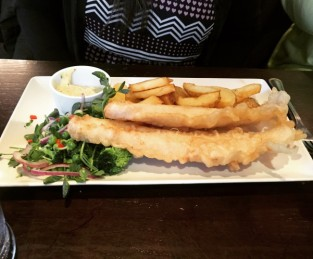 Termpura battered haddock - The Magnum