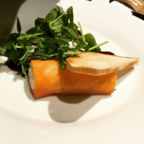 Smoked salmon roulade - Elliot's (Apex)
