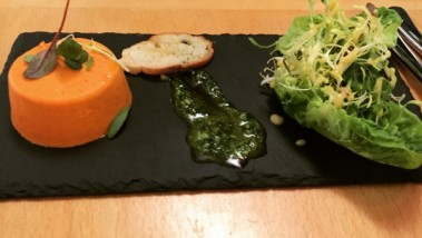 Roast pepper and chilli panna cotta - Bistro Provence
