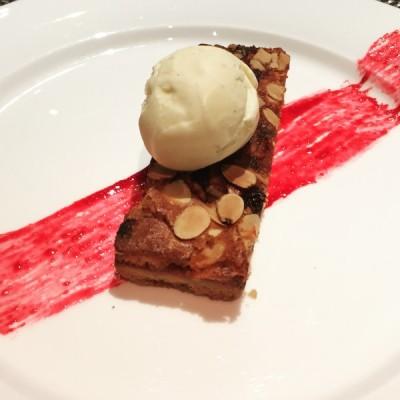 Cherry bakewell tart - The Observatory