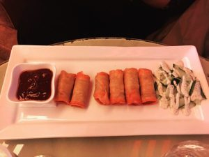 Duck spring rolls - Mad Hatter