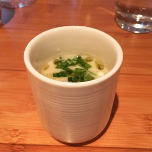 Celeriac and wild garlic veloute - Seasons