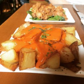 Patatas Bravas and Squid - Tapa