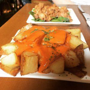 Patatas Bravas and Squid - Tapa