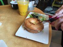 Han and cheese bagel - Hula