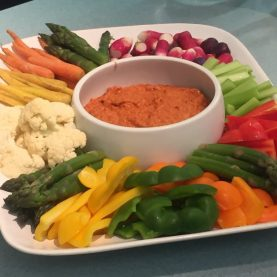 Romesco and crudites - Edinburgh New Town Cookery School