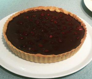 Chocolate and Raspberry Tart - Edinburgh New Town Cookery School