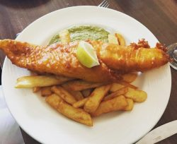 Fish and chips - Turquoise Thistle