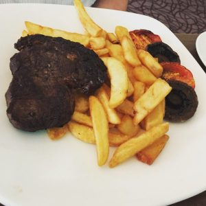 Steak (well done as requested) - Turquoise Thistle