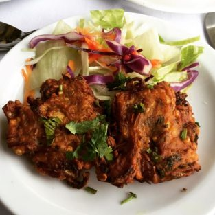 Onion Bhajis - The Raj Restaurant