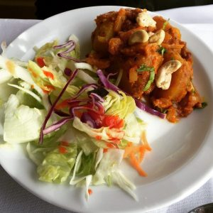 Roast potato and cashews - The Raj Restaurant