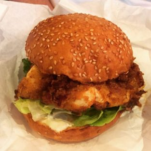 Buffalo blue cheese chicken burger - Foundry 39