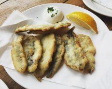 Deep fried anchovies - Serrano Manchego