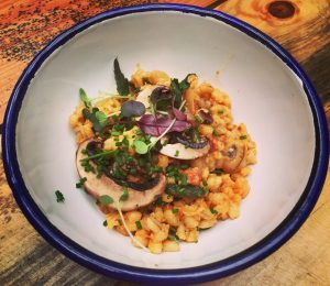 Pearl Barley Risotto with Spoots - Dram and Smoke