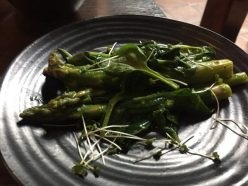 Asparagus and spinach - Rib-Aye