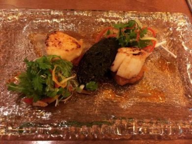 Scallops and Apple Black Pudding - Badger and Co