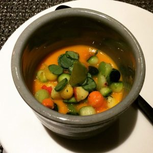 Cold Carrot Veloute - Kitchin