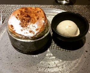 Plum Crumble Souffle - Kitchin
