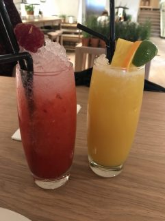 Raspberry Collins and Mai Tai - Vapiano