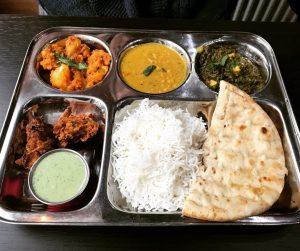 Vegetarian thali - Roti