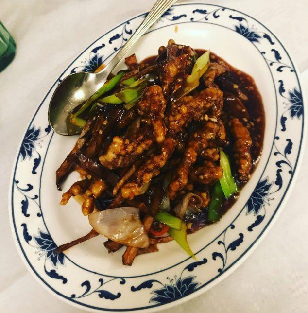 Deep fried shredded beef in chilli - Golden Dragon