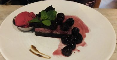 Cherry, Blackberry and Liquorice Dessert - Herringbone