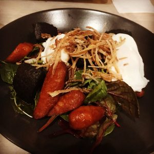 Black pudding and chorizo salad - Herringbone