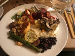 A selection from the gourmet sides bar - Fazenda