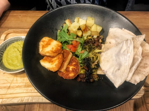 Halloumi Saganaki Kebab - Ransacked Black Oven