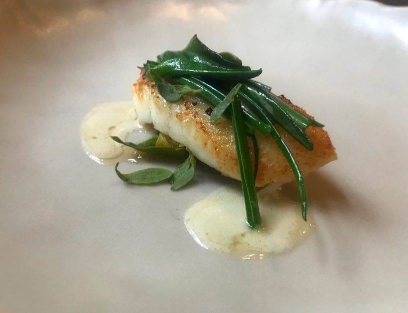 Halibut, swiss chard, salt marsh herbs - Fhior