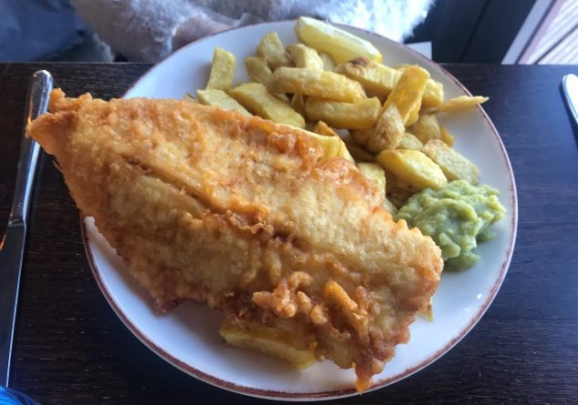 Haddock, chips and mushy peas - The Fishmarket