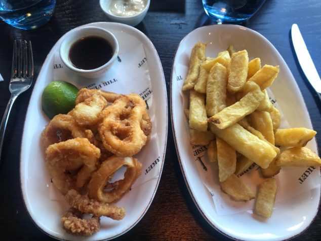 Squid and chips - The Fishmarket