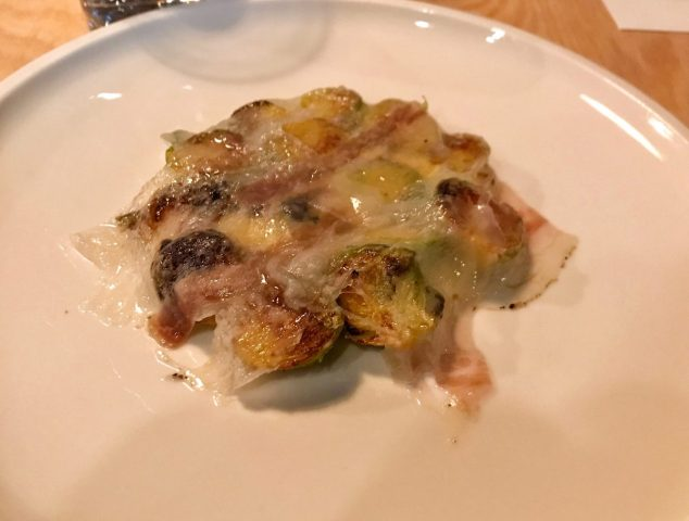 Sprouts, lardo and bearnaise sauce - Borough