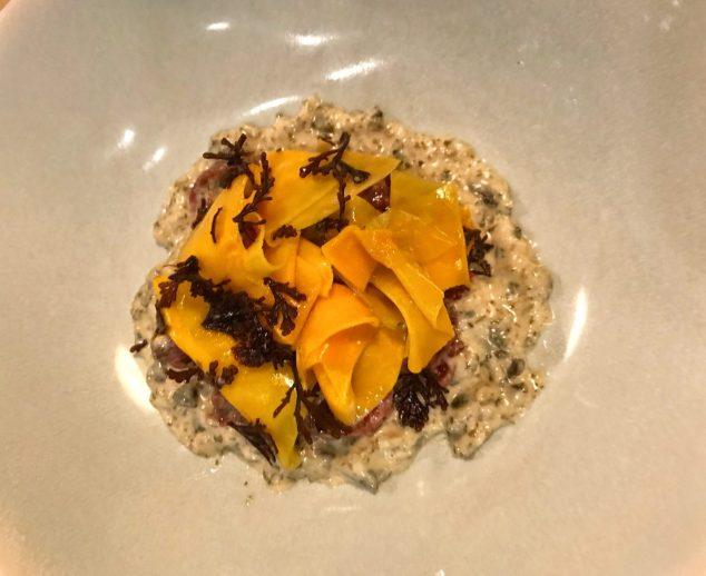 Venison tartare, pumpkin and pepper dulse - Borough