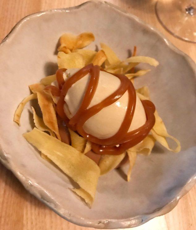 Parsnip, hay ice cream and chocolate - Borough
